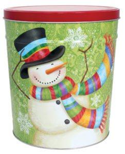 Whimsical Snowman Popcorn