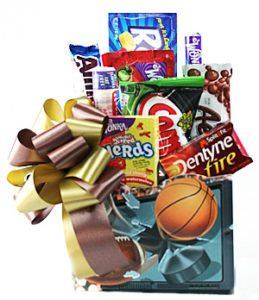 sports lovers snack basket