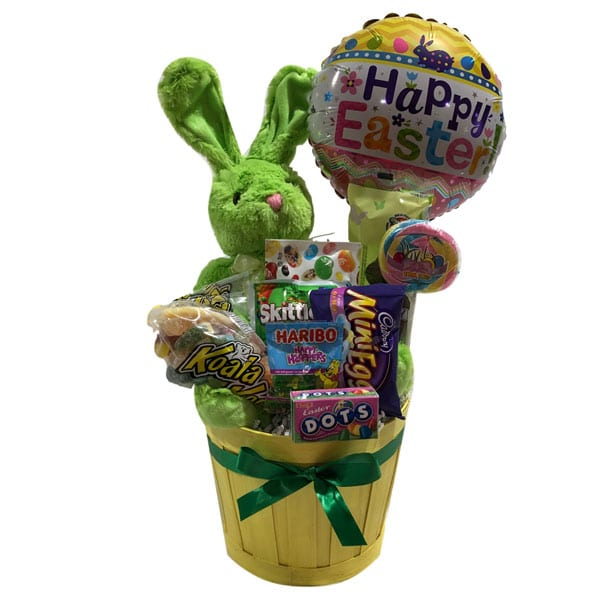 Bunny Silhouette Easter Gift Basket