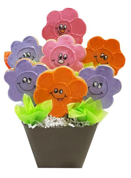 Crazy Daisies Cookie Bouquet