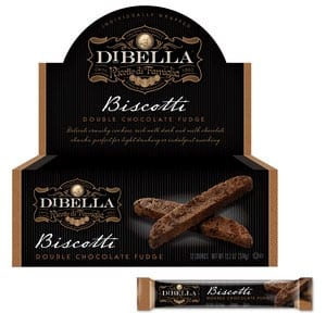 Dibella Double Choc Fudge Biscotti 31g-1.1 oz-1pc