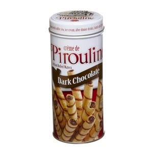 Pirouline Dark Chocolate Wafer Rolls Tin 3.25oz-92g