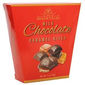 Snacktales Milk Choc Caramel Bites 5pk Red 30g-1 oz