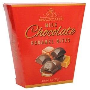 Snacktales Milk Choc Caramel Bites 5pk Red 30g-1 oz