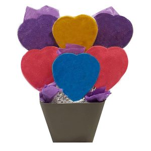 Love Heart Cookie Bouquet
