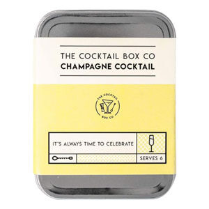 Champagne Cocktail kit provides the premium ingredients needed to prepare 6 perfectly tasting cocktails (alcohol not included with kit). Can be prepared as Mocktail.