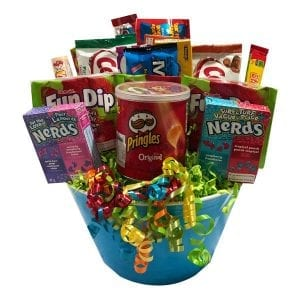 Funnertime Candy Bouquet-filled with candy, potato chips, chocolate and snacks