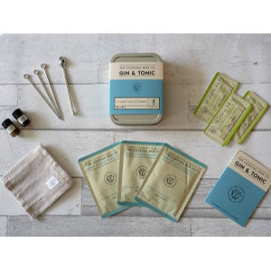 Gin and Tonic Cocktail kit provides the premium ingredients needed to prepare 3 perfectly tasting cocktails (alcohol not included with kit).