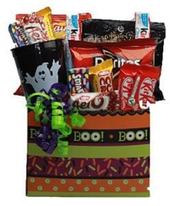 Halloween Chocolates and Treats Gift Basket
