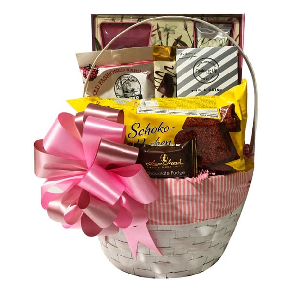 Hint Of Jasmine Gift Basket with pamper, bath and food treats