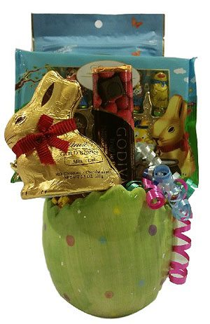 Lindt and Godiva Easter Gift Basket
