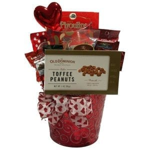 Love Hearts Valentine's Day Gift Basket
