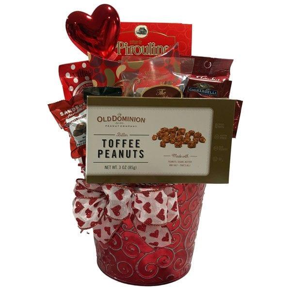 Love Hearts Valentine's Day Gift Basket