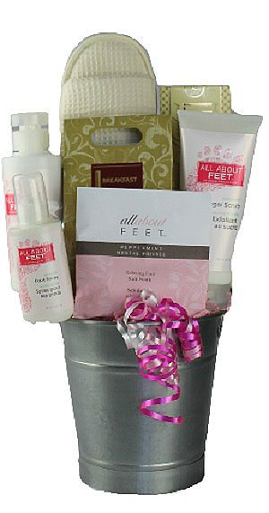 Peppermint Foot Spa Gift Basket