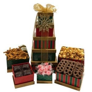 Season's Greetings Gift Tower