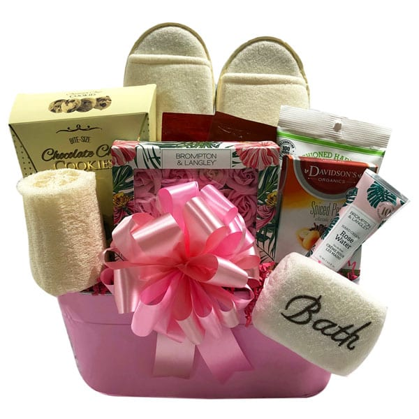 Spa Luxury Gift Basket with pamper, bath and food treats