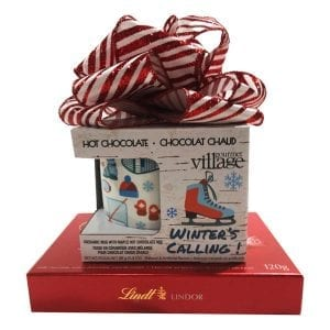 Winter Is Calling Gift of Hot Chocolate, Winter themed mug and Lindt truffles