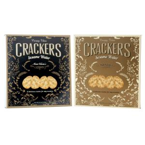 Aunt Gloria's Sesame Water Crackers Black-Gold 4.4oz-127g-1 piece