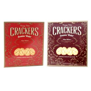Aunt Gloria's Sesame Water Crackers Burgundy-Red 4.4oz-127g-1 piece