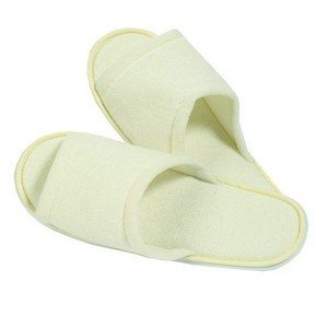 Bath & Spa Accents Beige Bath Slippers