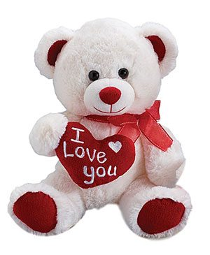 Bear-White-I-Love-You--10-inch