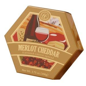 Comfort Collection Merlot Flavored Cheddar Cheese Spread Gold 3.75 oz-106g