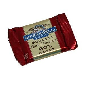 Ghirardelli Dark Chocolate Squares Burgundy 15.1g-0.53oz