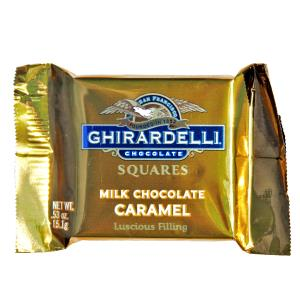 Ghirardelli Milk Chocolate Caramel Squares Gold 15.1g-0.53 oz