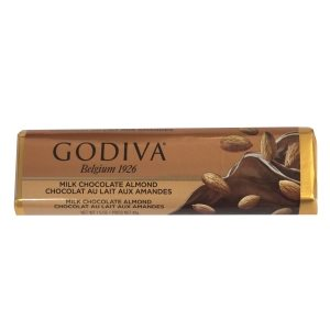 Godiva Milk Chocolate-Almonds Bar 43g-1.5oz