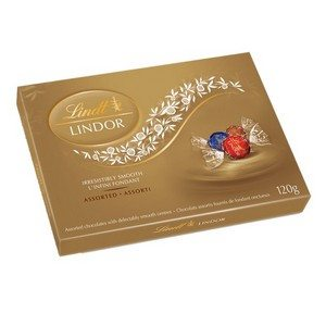 Lindt Assorted Chocolate Gift Box Small Gold 120g