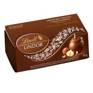 Lindt Lindor Chocolates 3 Pack Hazelnut Copper 36g-1.27 oz