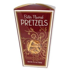 Snacktales Butter Pretzels Burgundy 3.5 oz-100g