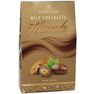 Snacktales Milk Choc Almonds Gold 2 oz-57g