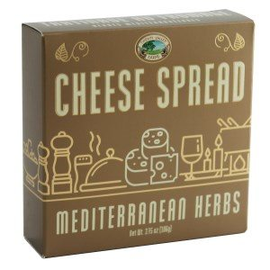 Twenty Valley Mediterranean Herbs Gourmet Cheese Spread Gold 3.75 oz