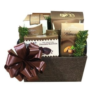 Christmas Chocolate Plus-filled with lots of gourmet chocolate treats, plus a few savory to balance out the sweet!