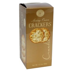 Comfort Collection Spring Onion Crackers Gold 62g-2.2oz