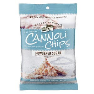 Golden Cannoli Powdered Sugar Chips 57g-2oz