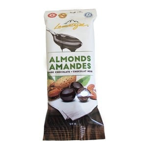 Lamontagne Dark Chocolate Almonds 57g