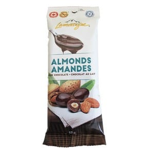Lamontagne Milk Chocolate Almonds 57g