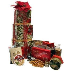 Christmas In Bloom Gift Tower