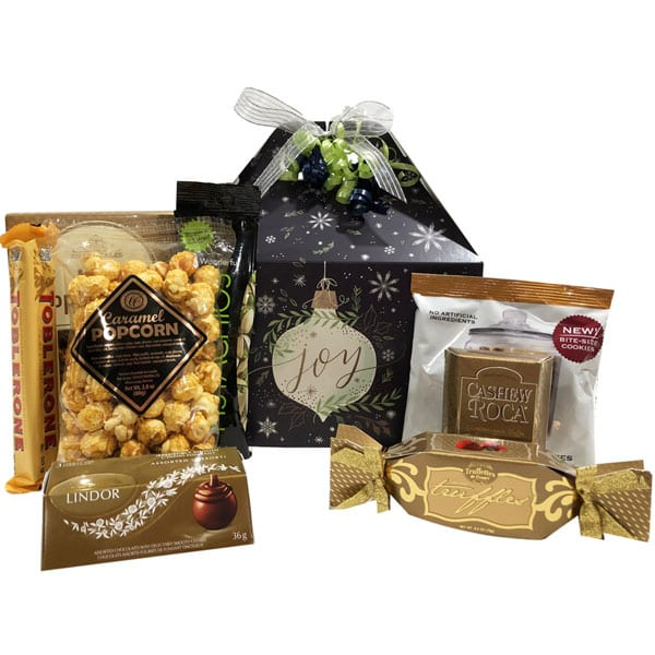 Joyful Treats Gift Tote-filled with gourmet snacks and treats