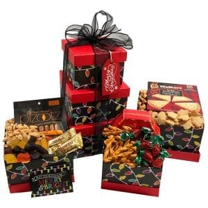 Merry And Bright Christmas Gift Tower