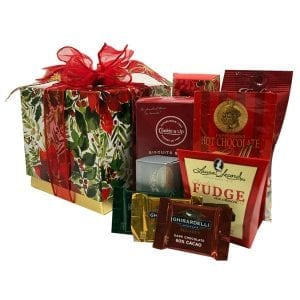 Poinsettia In Bloom Holiday Gift Box
