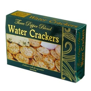 Vineyard Collection Three Pepper Blend Water Crackers Green 2oz-56g