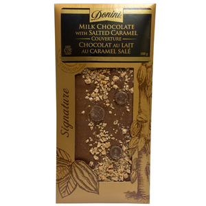 Donini Signature Chocolate Bars Milk Chocolate With Salted Caramel 100g