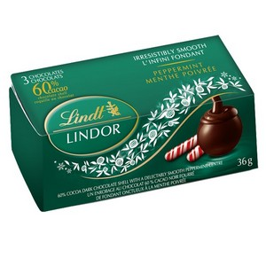 Lindt Lindor Chocolate 3 Pack Mint (Green) 36g-1.27oz