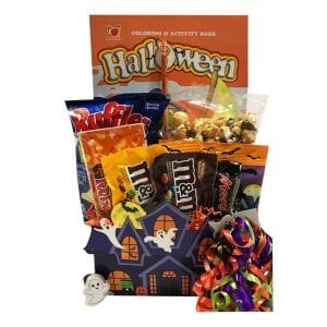 All Treats, No Tricks has Halloween Candies and Keepsakes, like a coloring book, eraser and pencil