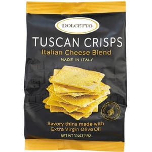 Dolcetto Italian Cheese Blend Tuscan Crisps Bag 30g-1.1oz