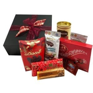 Chocolate Delights Gift Box-filled with top quality chocolates including Lindt, LaMontagne, Ghirardelli, Godiva and more.