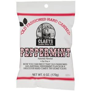 Claeys Hard Candies Peppermint 170g-6 oz